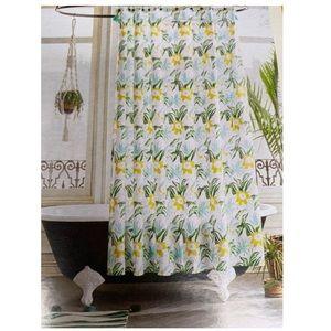Opalhouse Green Yellow Shower Curtain